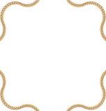 抽象形状金黄链子  免版税库存照片