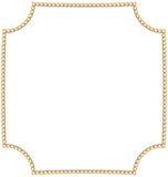 抽象形状首饰金黄链子  库存图片