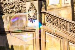 抽象形状,轻的背景肥皂泡  免版税库存照片