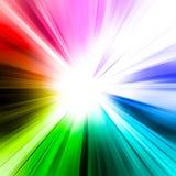 抽象彩虹光芒 库存图片