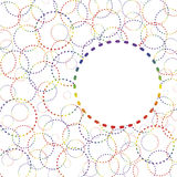 抽象彩虹圆环 库存图片