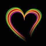 抽象彩虹心脏 库存图片