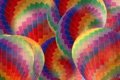 抽象彩虹热空气气球 免版税库存照片