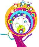 抽象彩虹结构树 免版税库存照片