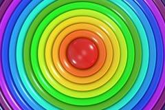 抽象彩虹色环背景 免版税图库摄影