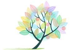 抽象彩虹色的结构树 库存照片