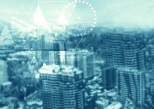 抽象微粒技术结构 免版税库存照片
