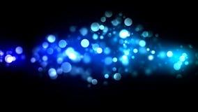 抽象微粒背景-圈蓝色 向量例证