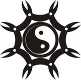 抽象徽章形象纹身花刺向量 免版税库存照片