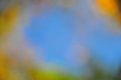 抽象心情背景在布朗绿金和蓝色 免版税库存图片