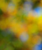 抽象心情背景在布朗绿金和蓝色 免版税库存照片