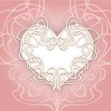 抽象心脏传染媒介例证eps 10 -储蓄传染媒介准备好您的设计,贺卡,横幅 柔和的颜色 艺术nouveau 库存例证
