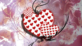 抽象心脏例证#2 图库摄影
