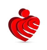 抽象心脏形象设计 免版税库存图片