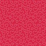 抽象心脏无缝的样式乱画纹理 免版税库存照片