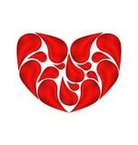 抽象心脏由下落血液制成 免版税图库摄影