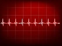 抽象心跳心电图。EPS 10 免版税库存照片