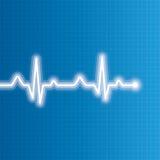 抽象心跳心电图例证 向量例证