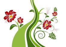 抽象您背景花卉安排的te 免版税库存照片