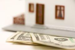 抽象房子货币 库存照片