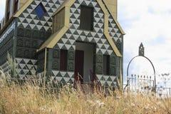 抽象房子钉子 免版税库存照片
