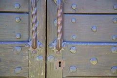 抽象房子门在意大利伦巴第闭合的n 免版税库存照片