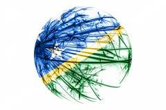 抽象所罗门群岛闪耀的旗子,圣诞节球概念隔绝在白色背景 库存例证