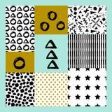 抽象手拉的几何样式 皇族释放例证
