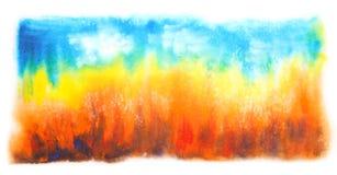 抽象手拉的水彩背景 库存照片