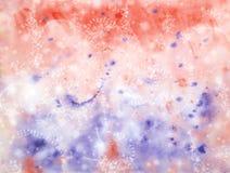 抽象手拉的水彩背景 图库摄影