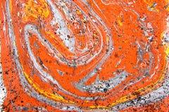 抽象手拉的油漆背景 库存照片