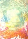 抽象手拉的油漆背景 图库摄影