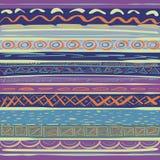 抽象手拉的现代无缝的部族样式 免版税库存照片