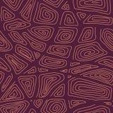抽象手拉的装饰样式 与漩涡和曲线的风格化无缝的纹理 库存照片