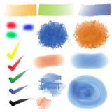 抽象手拉的水彩和绘 库存照片