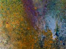 抽象手画混合画法背景 免版税图库摄影