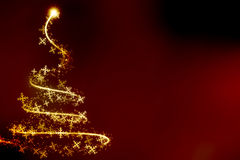抽象打旋的圣诞树 免版税库存图片