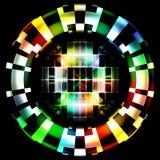 抽象技术三原色圆形图数字式伪装 免版税库存照片