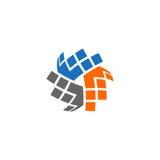 抽象技术传染媒介商标 免版税库存照片