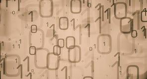 抽象技术启发网络安全 免版税库存图片