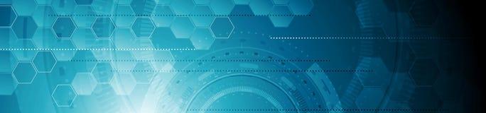 抽象技术工业几何网倒栽跳水横幅 皇族释放例证