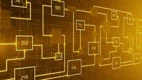 抽象技术电子线路背景圈 皇族释放例证