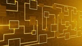 抽象技术电子线路背景圈 向量例证