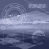 抽象技术等高对象 财政企业presentat 库存例证