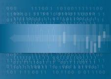 抽象技术箭头象和计算机编码编程的编制程序黑客概念背景 向量例证