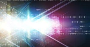 抽象技术背景事务&发展方向 免版税图库摄影