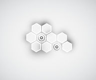 抽象技术背景事务&发展 免版税库存照片