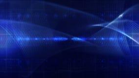 抽象技术背景圈蓝色 皇族释放例证