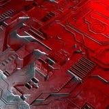 抽象技术背景由另外元素电路板和火光做成 图库摄影