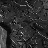 抽象技术背景由另外元素电路板和火光做成 免版税图库摄影